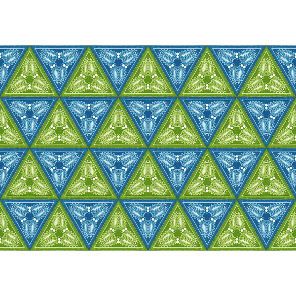 Background pattern in triangles