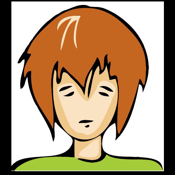 Emo boy avatar vector image