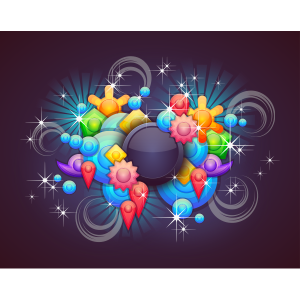 Badge With Abstract Background 2
