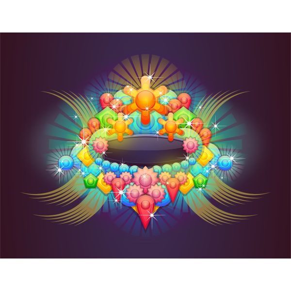 Badge With Abstract Background 3