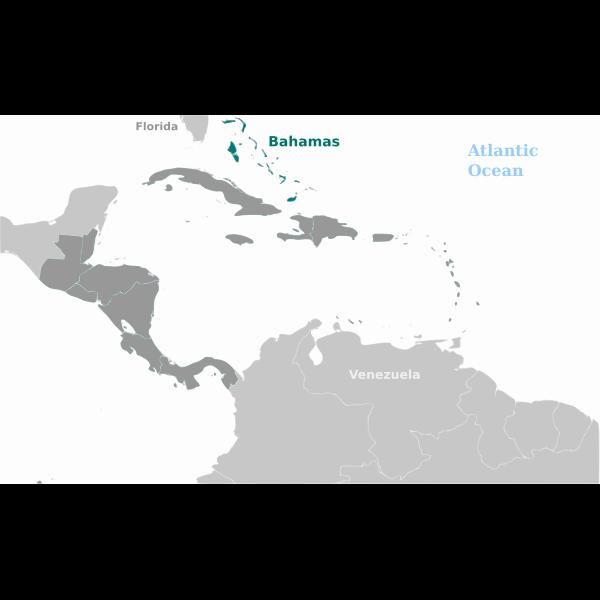 Bahamas in map