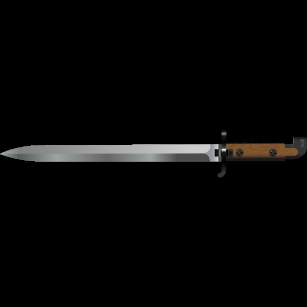 Bayonet vector image
