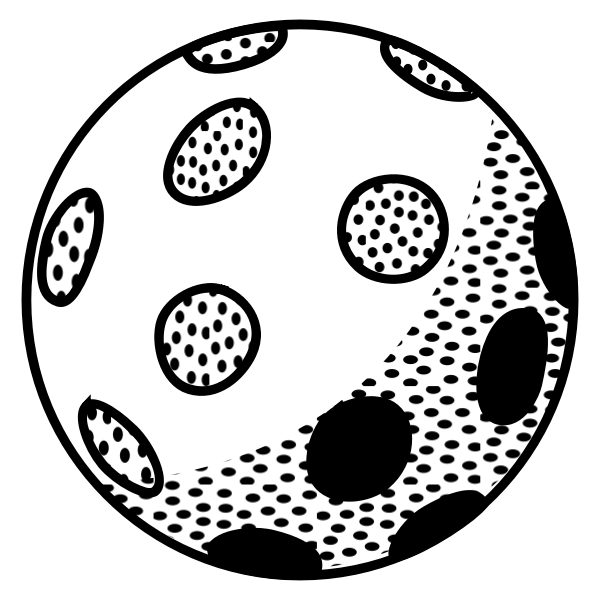 Disco ball lineart vector image