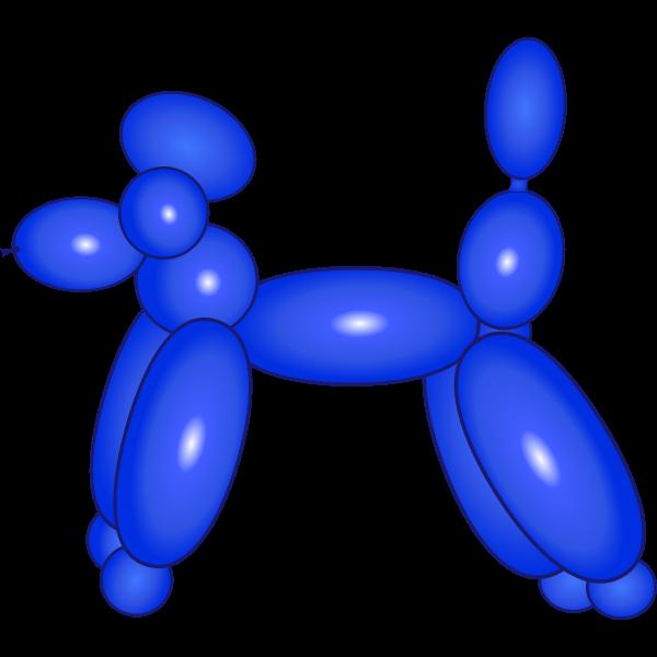 Balloon dog vector image