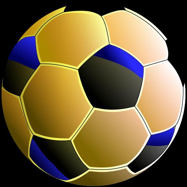 Pelota, balón de fútbol naranja-lazul