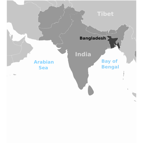 Bangladesh location vector