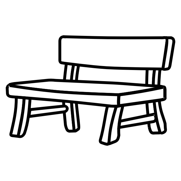 Wooden park bench vector image
