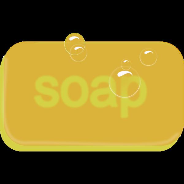 Bar of yellow soap vector image