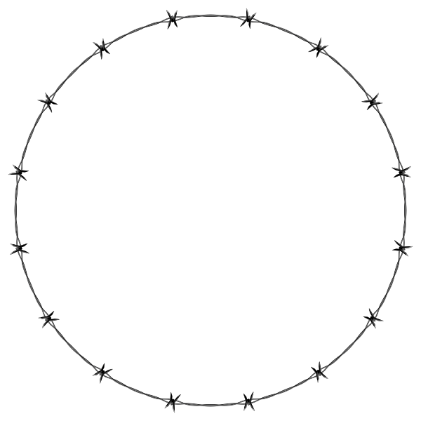 Barbed Wire Circle Frame Border