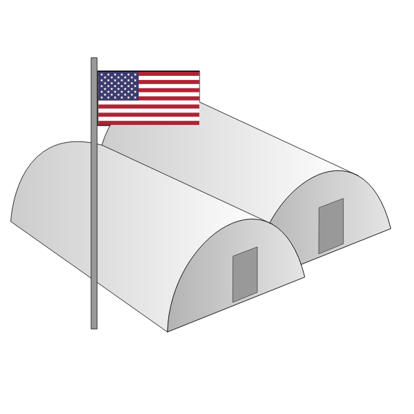 Barracks vector image