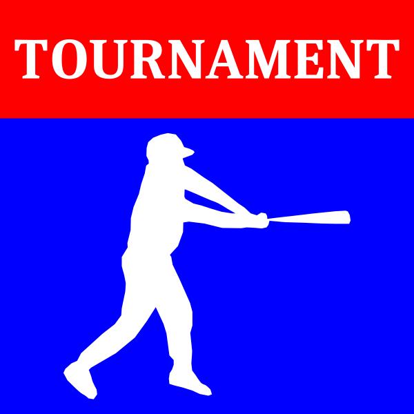 Vector graphics of baseball tournament icon