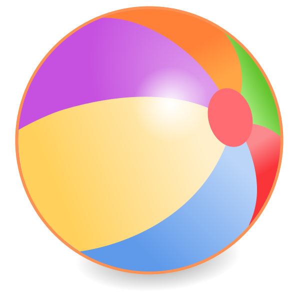 Vector graphics of beach ball