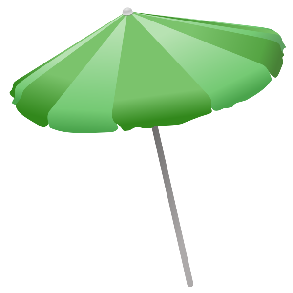 Beach umbrella vector clip art