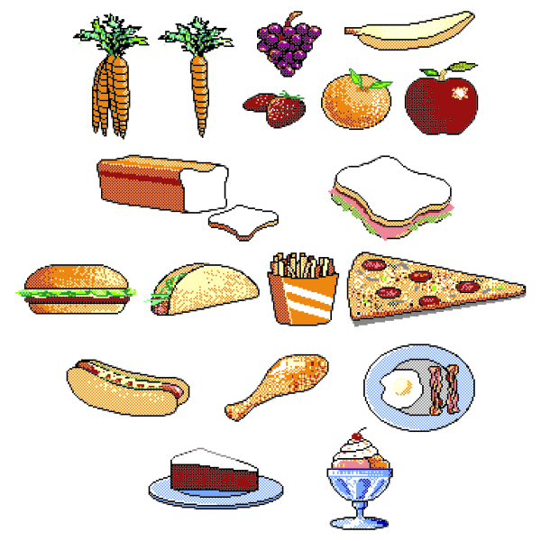 Different food