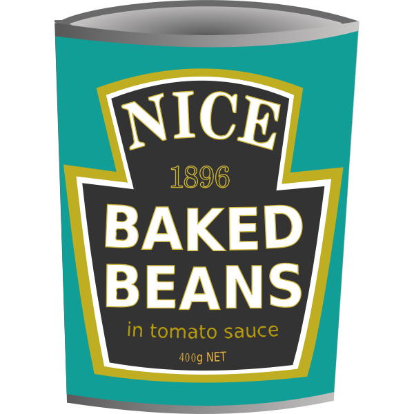 Baked beans tin vector image