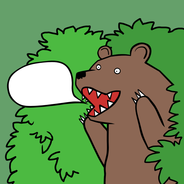 Bear said TEMPLATE by Rones