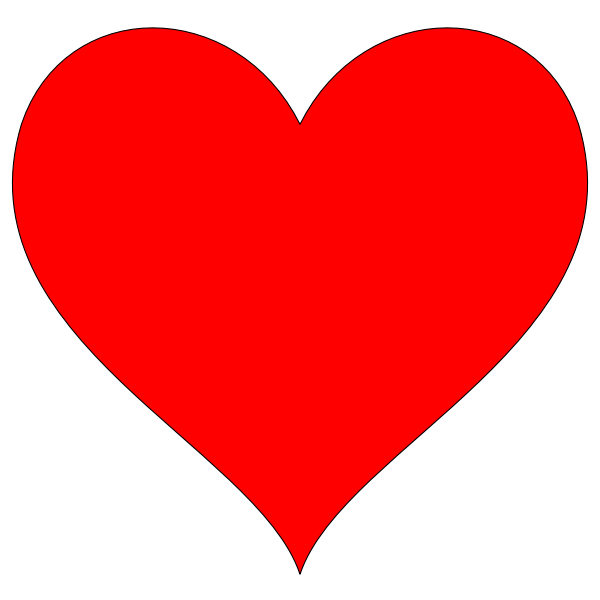 Vector image of shiny red heart