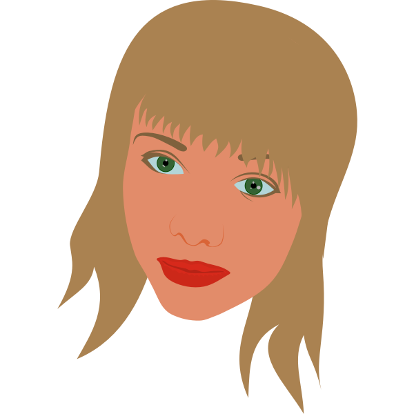 Vector image of portrait of a girl with green eyes