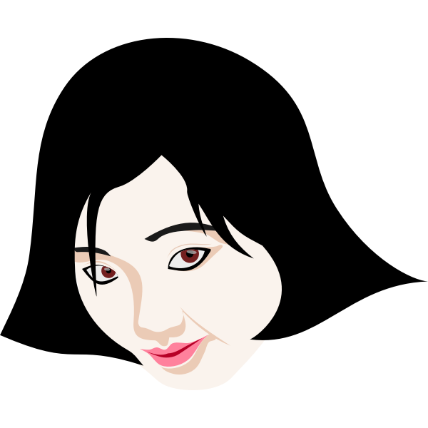 Japanese woman's face vector image