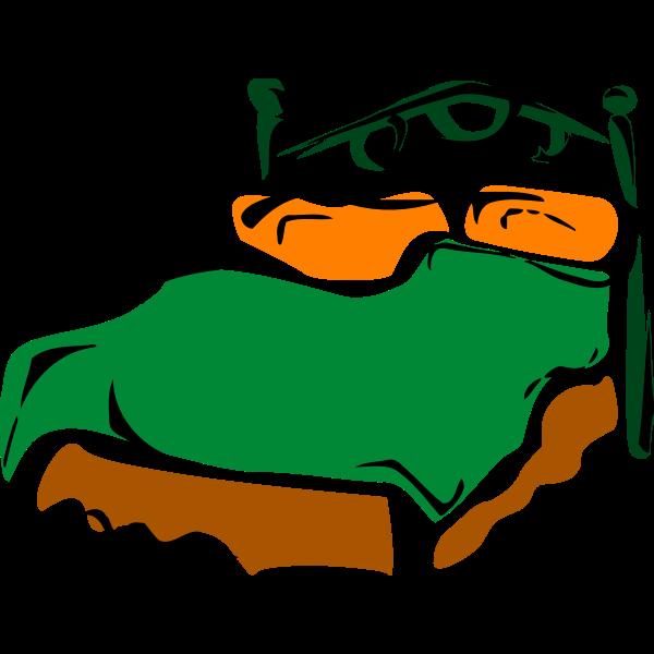 Bed color illustration