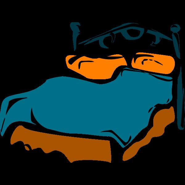 Bed color clip art