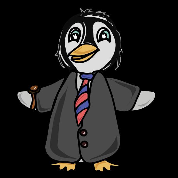 Penguin dressed in a coat