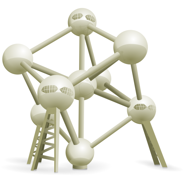 Atomium vector graphics