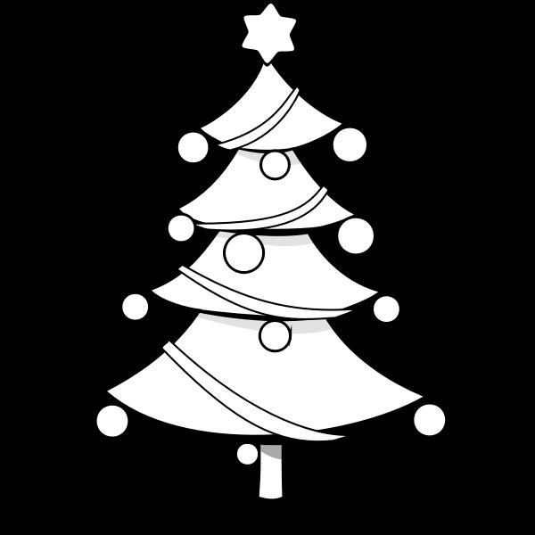 Christmas tree with Christmas balls vector illustration