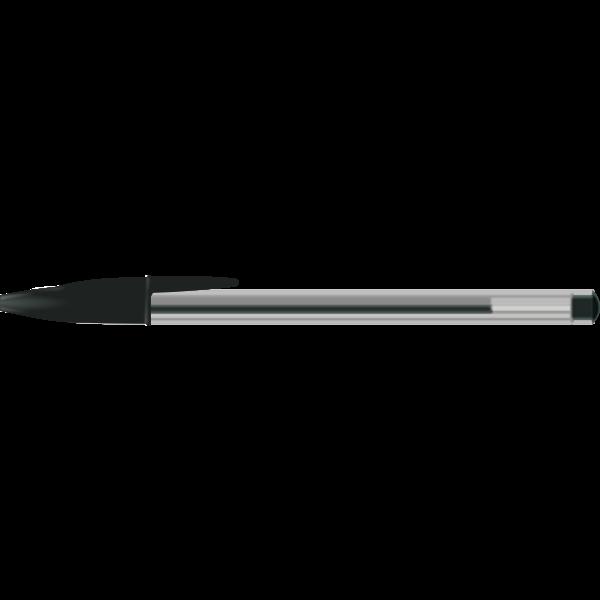 Vector clip art of black BIC pen