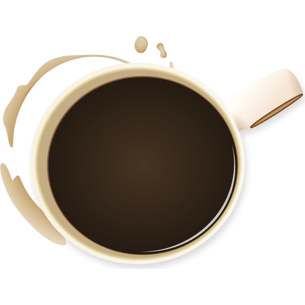 Coffee cup and stain vector illustration