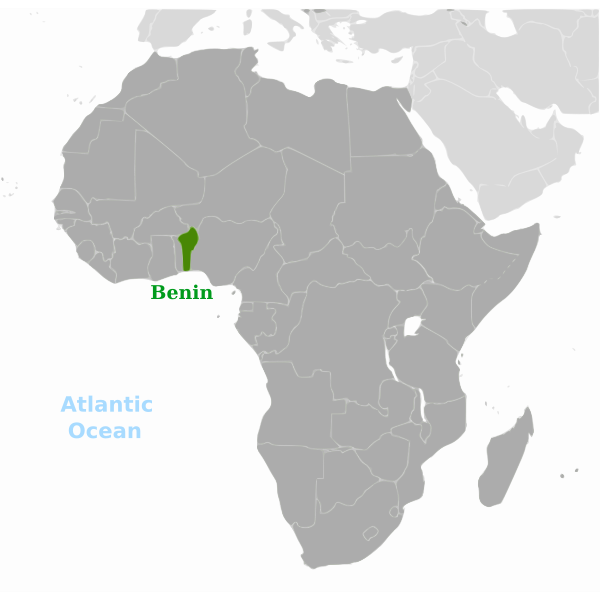 African state map vector