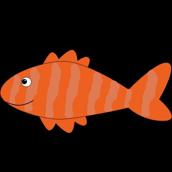 Orange striped fish vector illustration