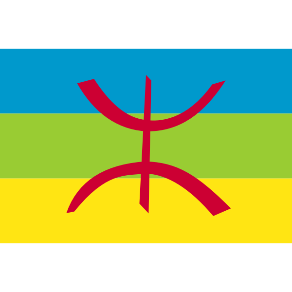 Flag of Berber vector image