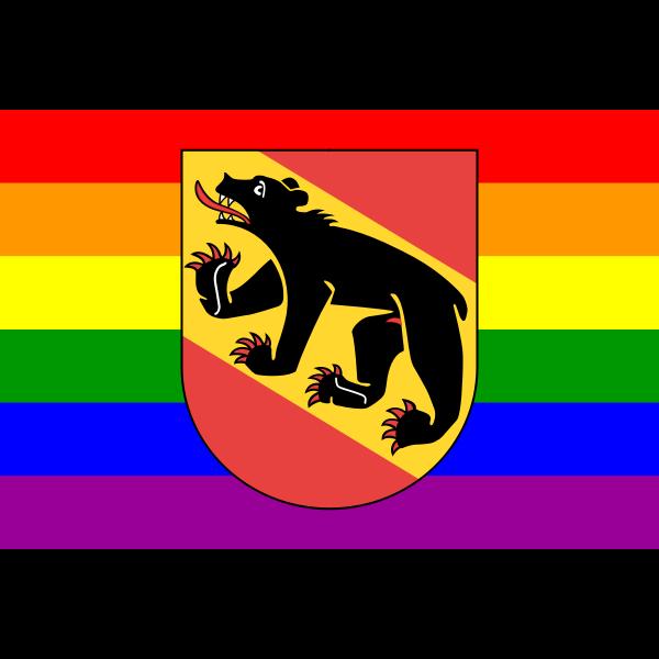 Bern symbol with rainbow colors