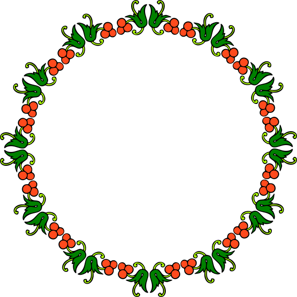 Berry Frame Decoration