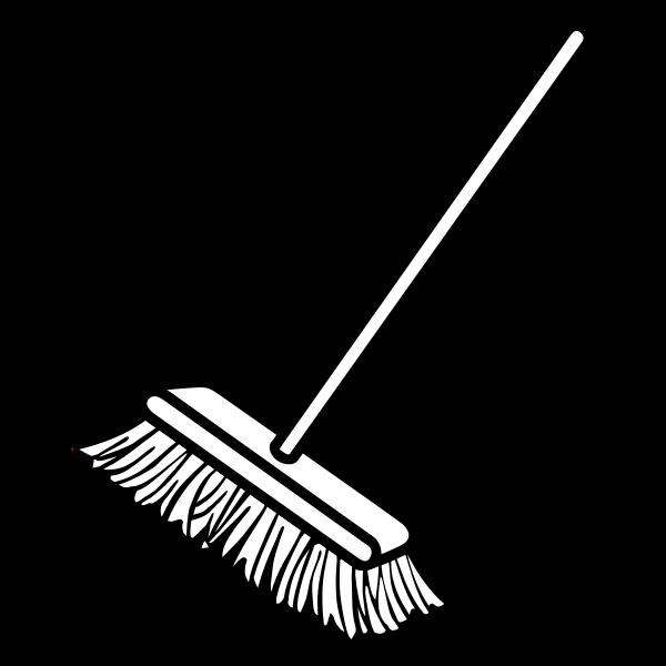 Vector clip art of simple broom