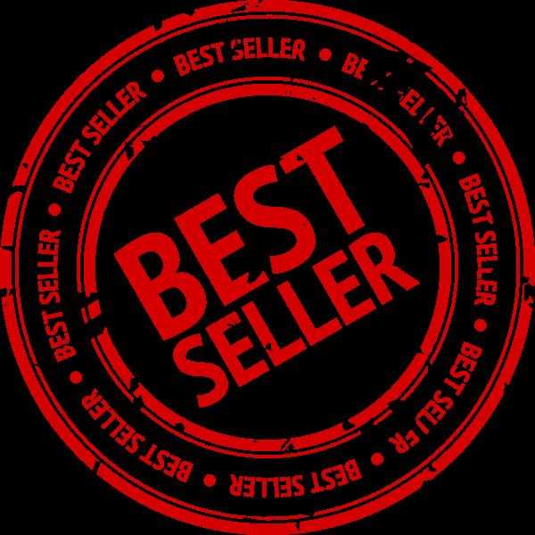 Vector image of best seller stamp