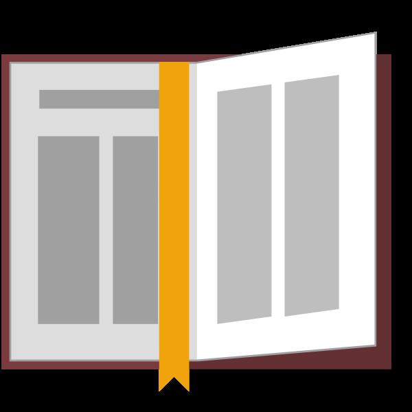 Vector image of an open Bible