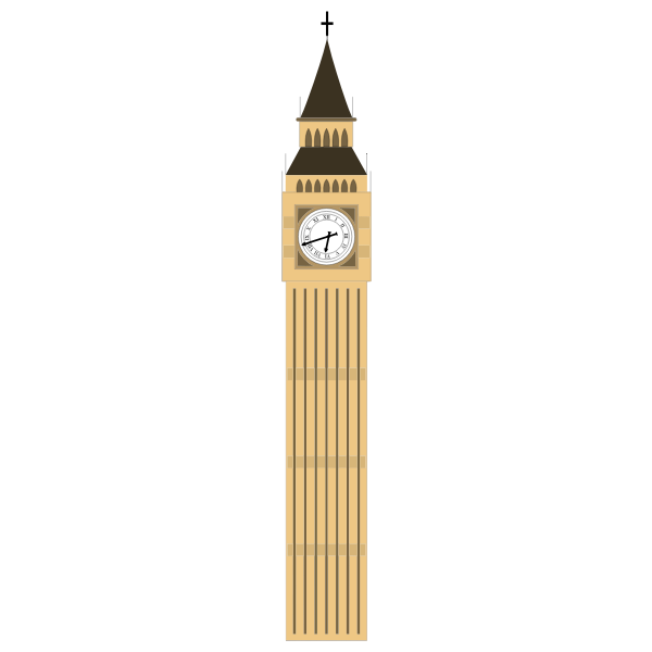 Big Ben Tower vector drawing