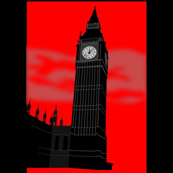 Big Ben tower in London vector image