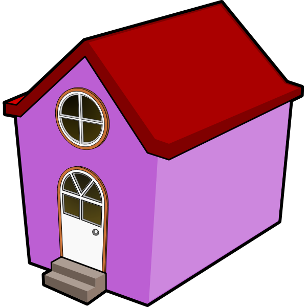 A Little Purple House vector