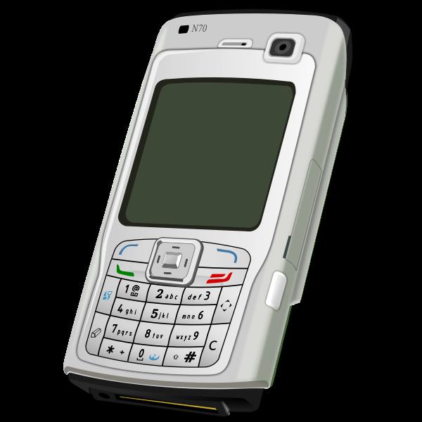 Vector clip art of Nokia mobile device clip art