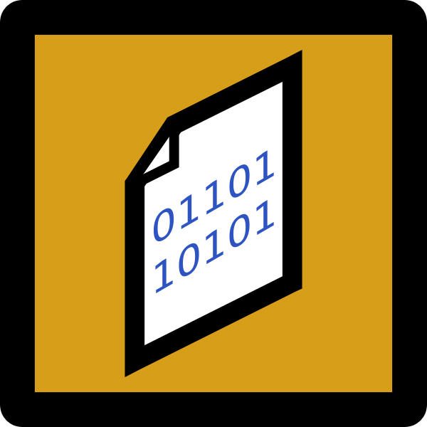 Binary Icon Umber
