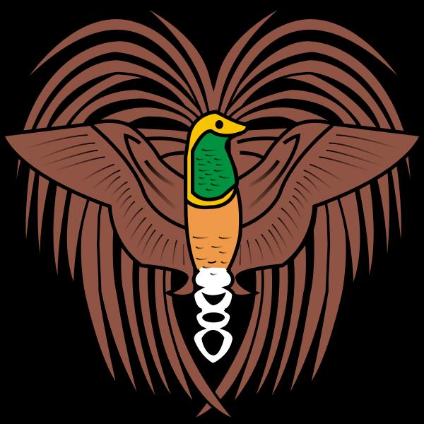 Bird of paradise emblem