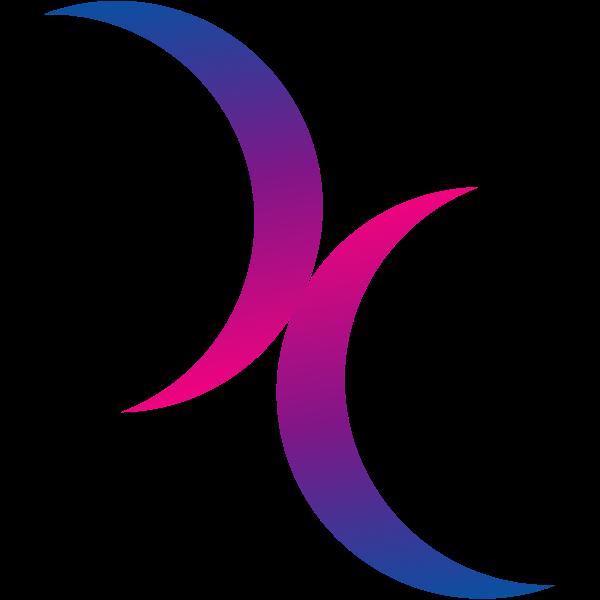 Bisexual moon symbol
