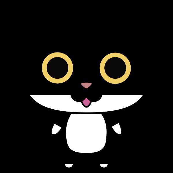 Black anthropomorphic cat