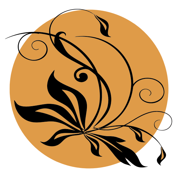 Black floral symbol