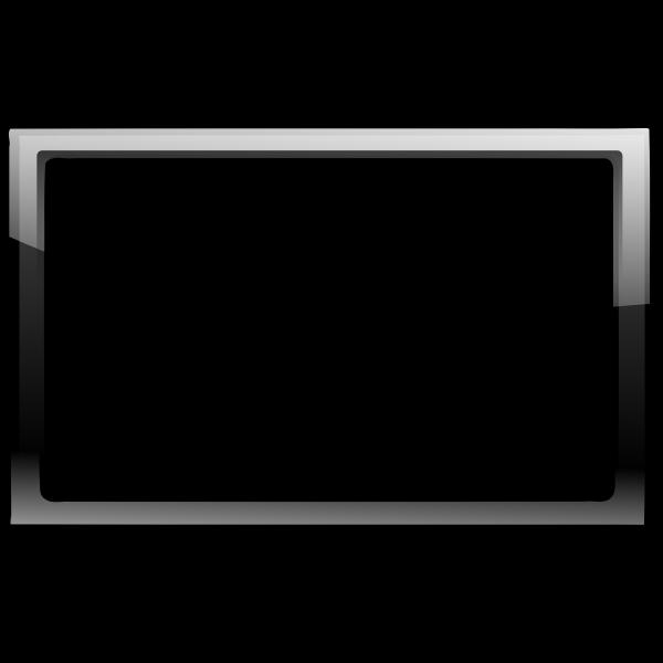 Gloss transparent black frame vector clip art