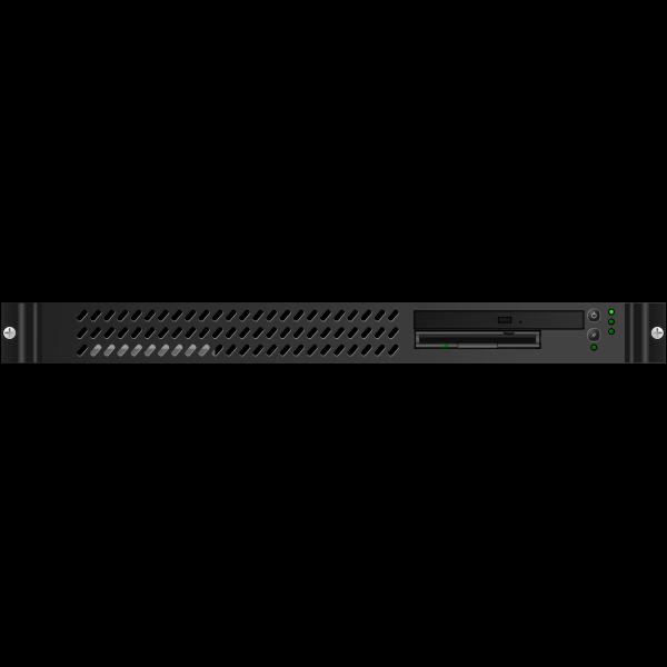 Black 1U Mini-server vector image