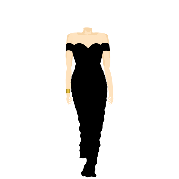A headless dummy in black dress vector image